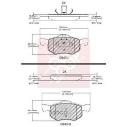 Дисковые тормозные колодки (Friction Master) CMX843