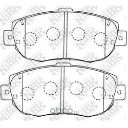 Колодки тормозные дисковые (NiBK) PN1324