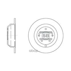 ДИСК ТОРМОЗНОЙ (Sangsin brake) SD1072