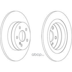 Тормозной диск (Ferodo) DDF1691