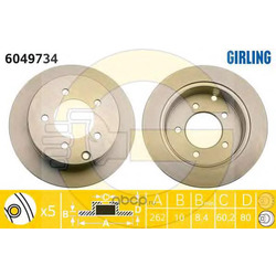 Тормозной диск (Girling) 6049734