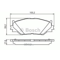 КОЛОДКИ ДИСКОВЫЕ (Bosch) 0986494316