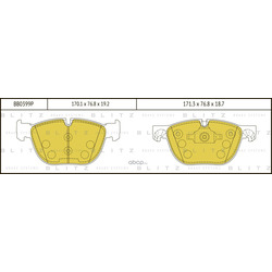 Колодки тормозные дисковые (Blitz) BB0399P