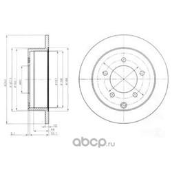 Тормозной диск (Delphi) BG4198