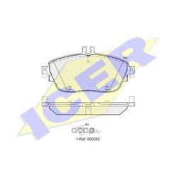 Колодки тормозные дисковые, комплект (Icer) 182061