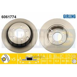 Тормозной диск (Girling) 6061774