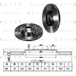 Диск тормозной (Blitz) BS0266