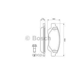 Колодки тормозные, комплект, передние (Bosch) 0986494065