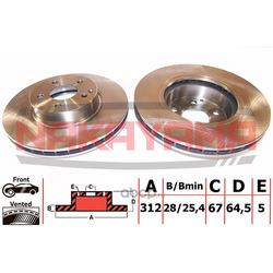 Торм. диск передн. вент. MB W211, S211 3.0-5.0, 3. (NAKAYAMA) Q4871