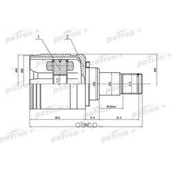 ШРУС внутренний левый 27x50x24 TOYOTA CAMRY ACV30/MCV30 01-06 (PATRON) PCV1570