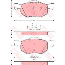 Колодки тормозные передние (TRW/Lucas) GDB1497
