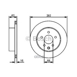 Диск тормозной вентилируемый (Bosch) 0986479453