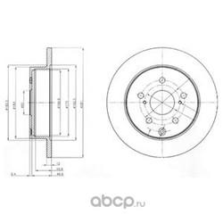Тормозной диск (Delphi) BG4115