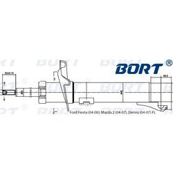 Стойка амортизационная газомасляная передняя левая (BORT) G22048028L