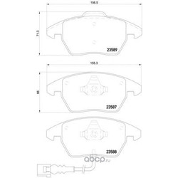 Колодки тормозные дисковые, комплект (Mintex) MDB2604