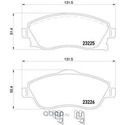 Колодки тормозные дисковые TEXTAR (Textar) 2322501