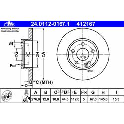 Тормозной диск (Ate) 24011201671