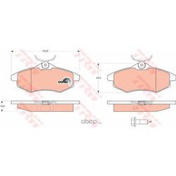 """Колодки тормозные дисковые, комплект """"COTEC (TRW/Lucas) GDB1495"""