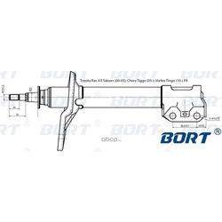 Амортизатор (BORT) G22250126R