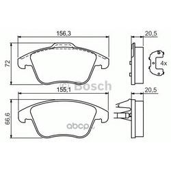 Колодки тормозные дисковые, комплект (Bosch) 0986494169