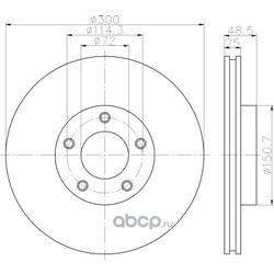 Тормозной диск (Hella) 8DD355110891