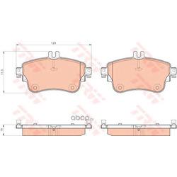 Комплект тормозных колодок, дисковый тормоз (TRW/Lucas) GDB1933
