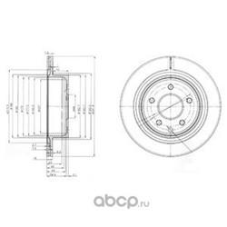 Тормозной диск (Delphi) BG3765