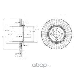 Диск тормозной вентилируемый (Delphi) BG3430