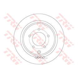 Тормозной диск (TRW/Lucas) DF6177