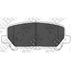 Колодки тормозные дисковые (NiBK) PN28002