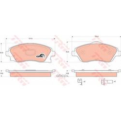 Комплект тормозных колодок, дисковый тормоз (TRW/Lucas) GDB1570