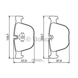 Комплект тормозных колодок, дисковый тормоз (Bosch) 0986494325