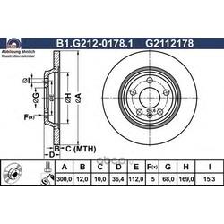 Тормозной диск (GALFER) B1G21201781