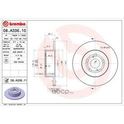 Тормозной диск (Brembo) 08A33611