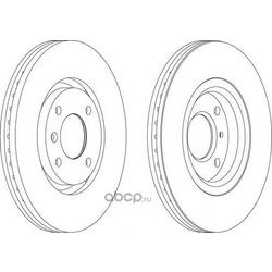 Тормозной диск (Ferodo) DDF1152