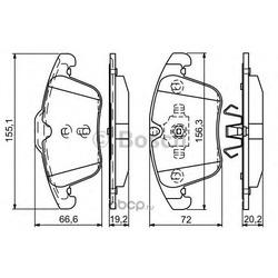 Комплект тормозных колодок, дисковый тормоз (Bosch) 0986494342