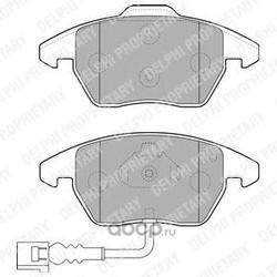 Колодки тормозные дисковые, комплект (Delphi) LP1837