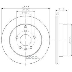 Тормозной диск (Hella) 8DD355114411