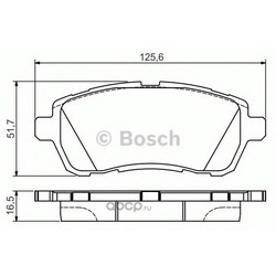 Комплект тормозных колодок (Bosch) 0986495108