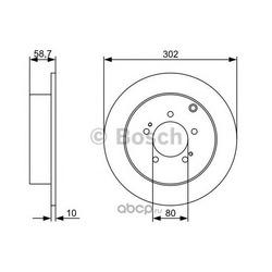Диск тормозной (Bosch) 0986479318
