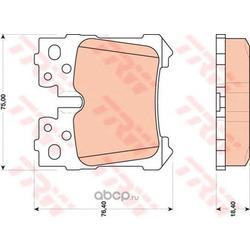 Комплект тормозных колодок, дисковый тормоз (TRW/Lucas) GDB3475
