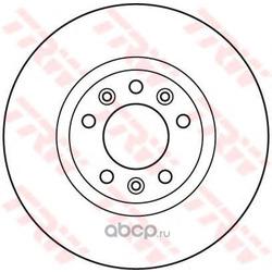Диск тормозной вентилируемый (TRW/Lucas) DF6121