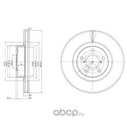 Тормозной диск (Delphi) BG2827