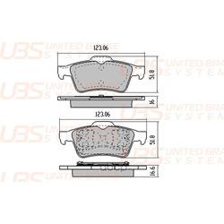 Колодки тормозные, комплект, задние (UBS) BP1105014
