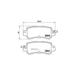 Комплект тормозных колодок (Brembo) P49047
