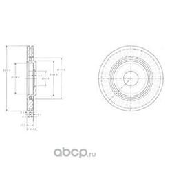 Тормозной диск (Delphi) BG3620
