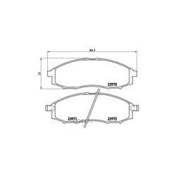Комплект тормозных колодок, дисковый тормоз (Brembo) P56049