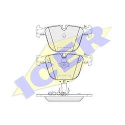 Комплект тормозных колодок, дисковый тормоз (Icer) 181949