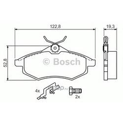 Комплект тормозных колодок, дисковый тормоз (Bosch) 0986494262