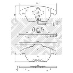 Комплект тормозных колодок, дисковый тормоз (Mapco) 6695